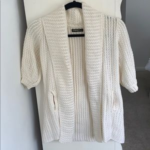 GUESS JEANS CARDIGAN SWEATER CREAM WHITE
